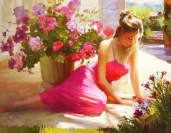 Девушка мечты-картина по номерам, CG869