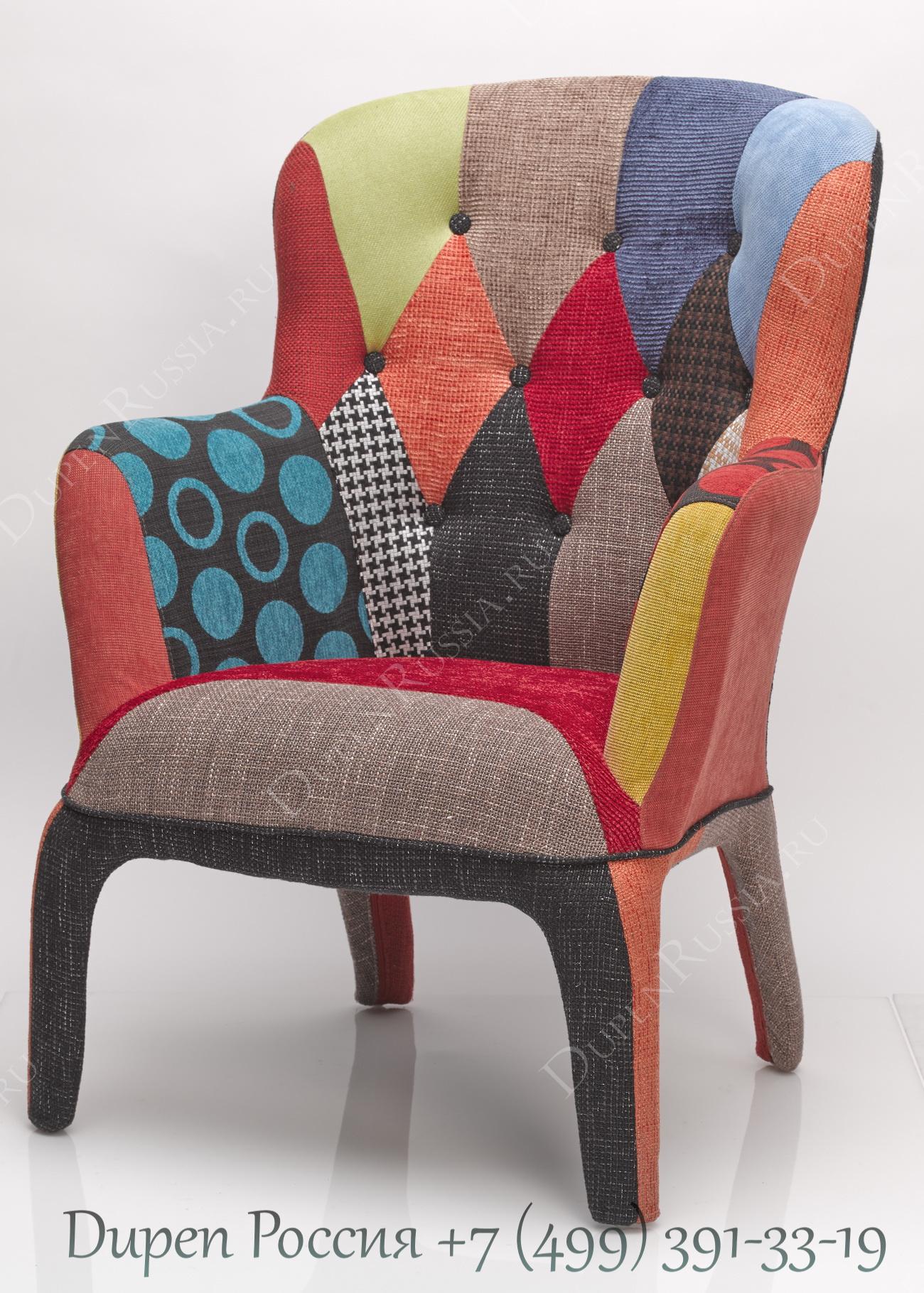 Кресло DUPEN 689P Лоскутный микс