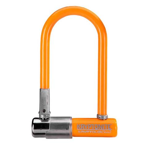 замок Kryptonite U-locks KryptoLok Series 2 Mini-7  w/ FlexFrame-U bracket (COLOR-LT.ORANGE)