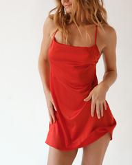 Сорочка короткая красная Lilit