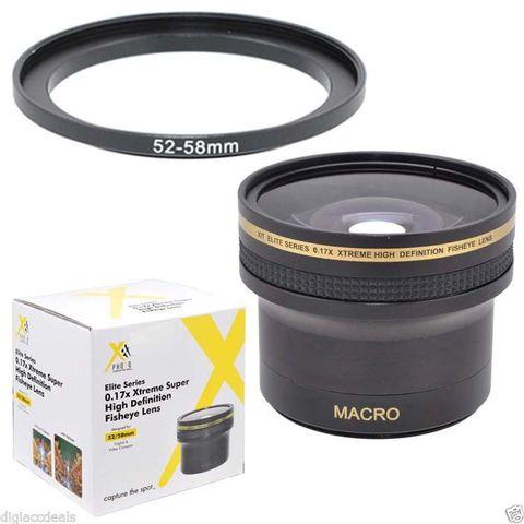 Фишай Fisheye линза 0.17x HD для Nikon D7000, D3200, D5100, D90, Canon 600D