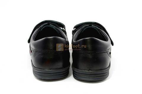 Ботинки на липучках для мальчиков Лель (LEL) из натуральной кожи цвет черный. Изображение 9 из 17.
