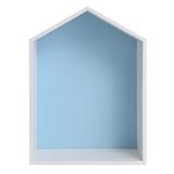 Полочка-домик для книг и игрушек (голубая) 1