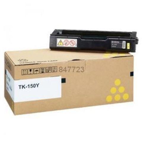 Kyocera TK-150Y - Тонер-картридж для принтеров Kyocera FS-C1020MFP, FS-C1020MFP+. Ресурс 6000 страниц.