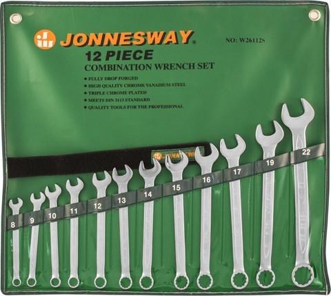 Набор ключей гаечных комбинированных в сумке, 8-22 мм, 12 предметов Jonnesway