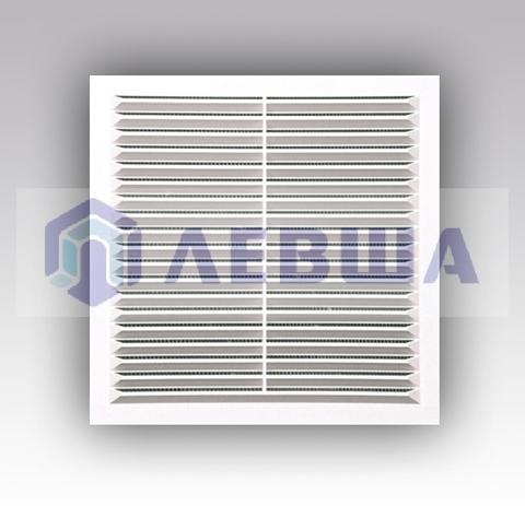Решетка вытяжная с сеткой без рамки 234х234 мм (2323С) белая