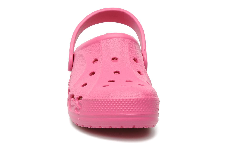 Сабо Крокс (Crocs) пляжные шлепанцы кроксы для девочек, цвет розовый