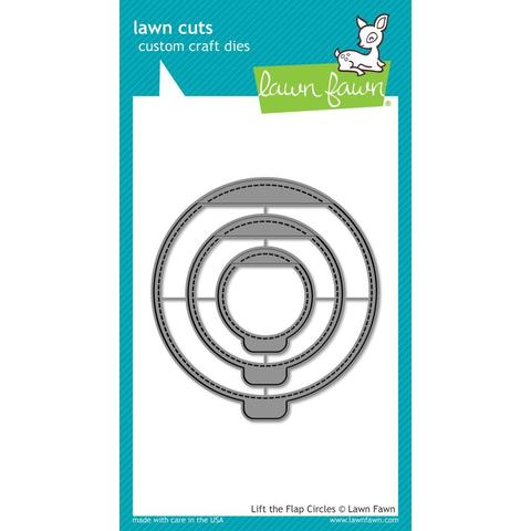 Ножи для вырубных машин- Lawn Cuts Custom Craft Die-  Lift The Flap Circles