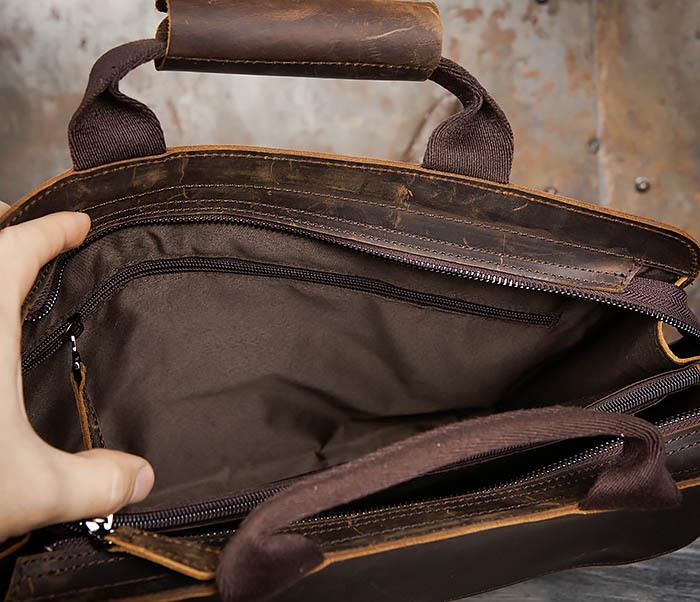 BAG458-2 Мужской портфель из толстой кожи (под А4) фото 14
