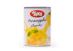 Консервированные ананасы кусочки в ананасовом соке, 580мл