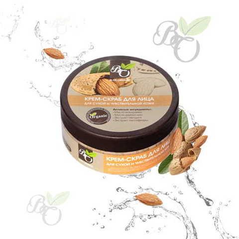 Натуральный крем-скраб для лица «Для сухой и чувствительной кожи», Bliss organic 150 мл