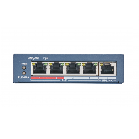 Коммутатор на 4 PoE порта Hiwatch DS-S504P(B)