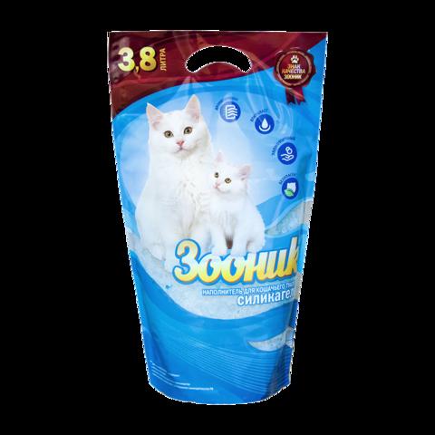 Зооник Наполнитель для туалета кошек силикагелевый