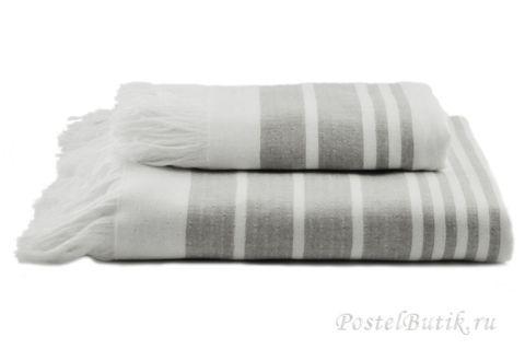 Полотенце 100х180 Hamam Marine Towel серое