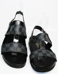 Мужские сандалии биркеншток Louis Vuitton 1008 01Blak.