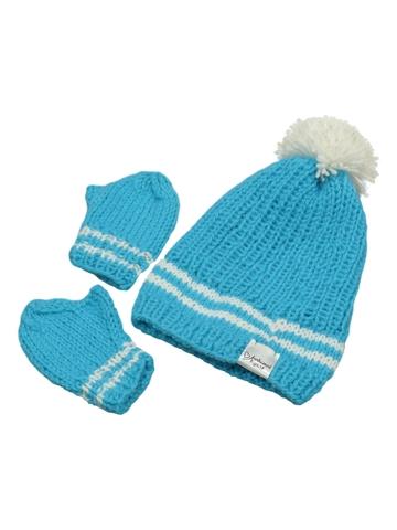 Вязаный комплект - Голубой 1. Одежда для кукол, пупсов и мягких игрушек.