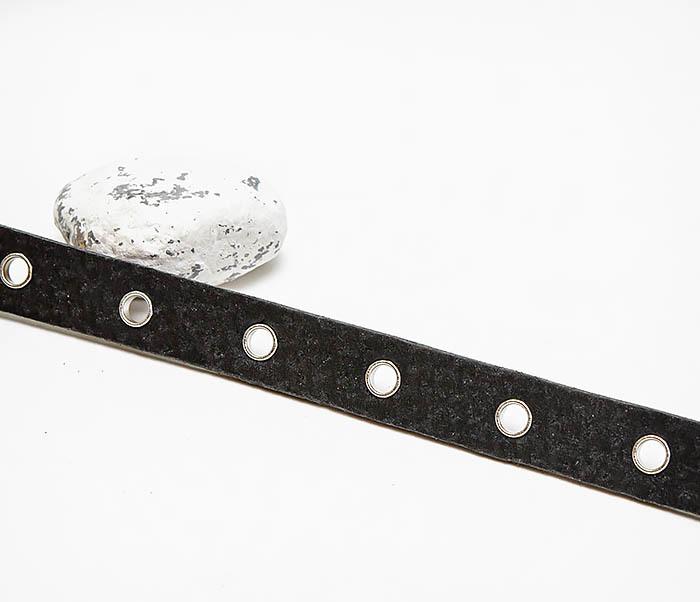 BL797-1 Мужской браслет полоска из черной кожи фото 03