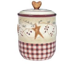 Банка для сыпучих продуктов Blonder Home Heart & Stars by Linda Spivey
