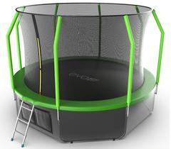 Батут EVO JUMP Cosmo 12ft (Green)+нижняя сеть