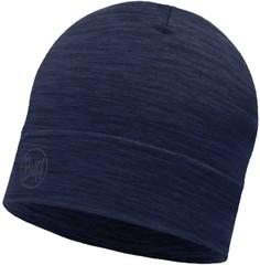 Тонкая шерстяная шапка Buff Solid Denim