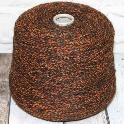 Смесовка с альпакой и мериносом SOFT TWEED 150  рыже-коричневый