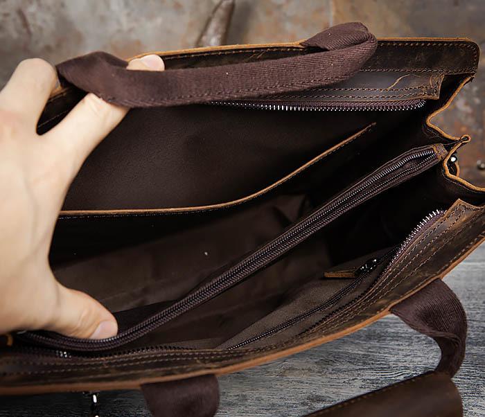 BAG458-2 Мужской портфель из толстой кожи (под А4) фото 16