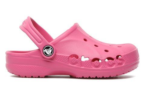 Сабо Крокс (Crocs) пляжные шлепанцы кроксы для девочек, цвет розовый. Изображение 3 из 7.