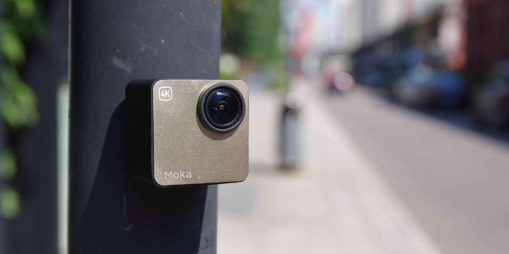 Экшн-камера Mokacam 4K на столбе
