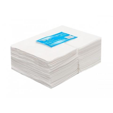 Салфетка Вайт Лайн белая спанлейс пачка 20*20 100шт/уп