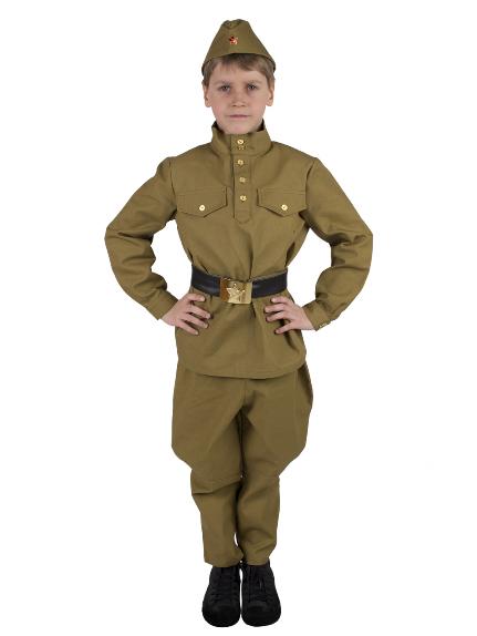 Костюм Солдат с брюками - галифе детский (саржа)