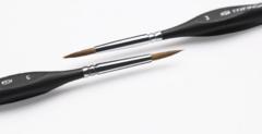 Кисть из волоса колонка круглая Transon, короткая фигурная ручка