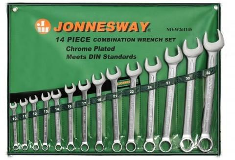 Набор ключей гаечных комбинированных в сумке, 10-32 мм, 14 предметов Jonnesway