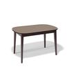 Стол кухонный KENNER 1300М, раздвижной, стекло капучино, подстолье венге