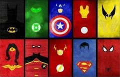 Постер Арт Супергерои