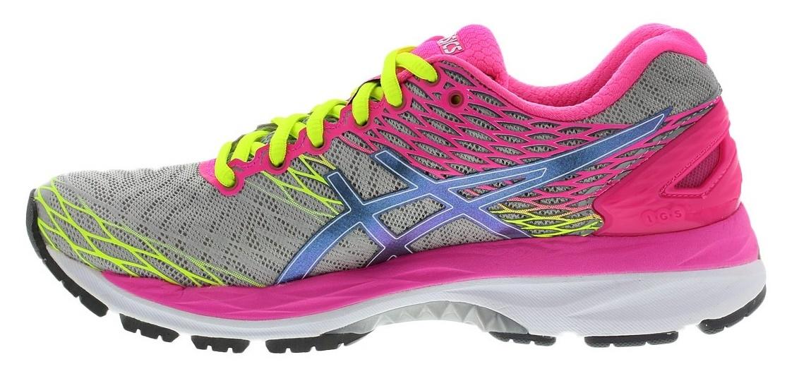 Женская беговая обувь Asics Gel-Nimbus 18 (T650N 9397) серые-розовые фото