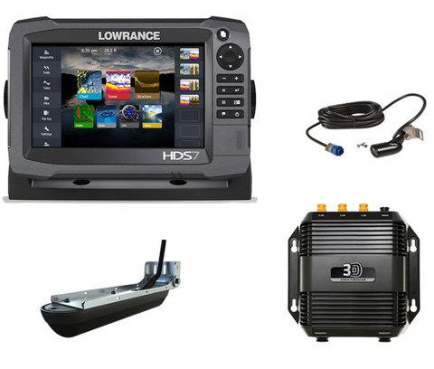 Комплект Lowrance HDS-7 Gen3 + StructureScan 3D + датчик HST-WSBL