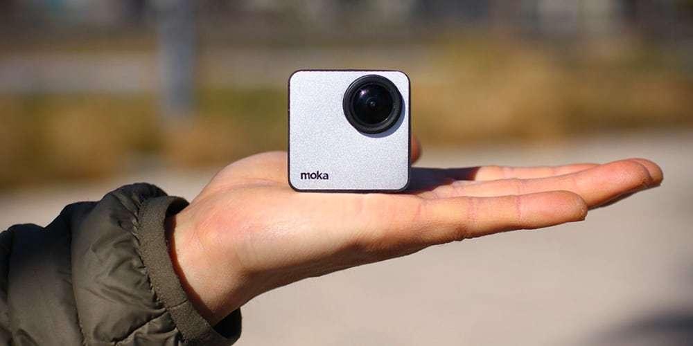 Экшн-камера Mokacam 4K на ладони