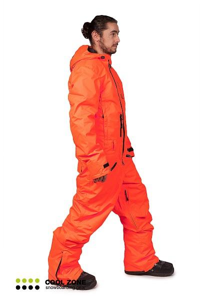 Сноубордический комбинезон мужской Cool Zone оранжевый