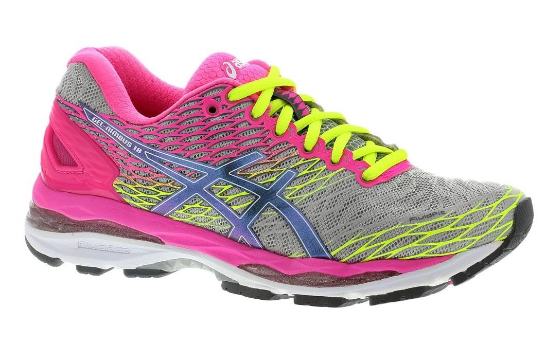 Женские кроссовки для бега Asics Gel-Nimbus 18 (T650N 9397) серые-розовые