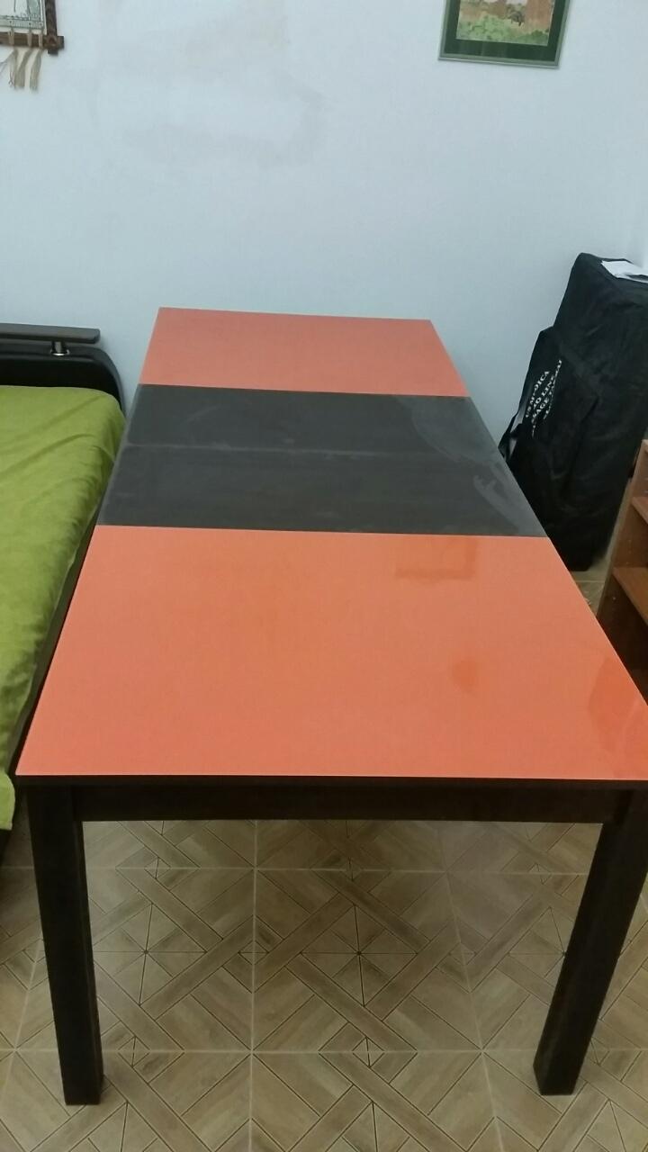 Подстолье венге/стекло оранжевое