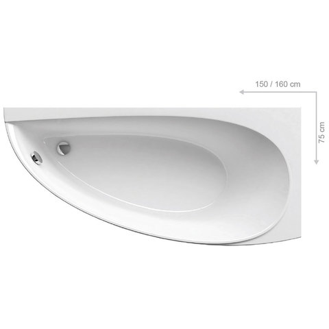 Акриловая ванна Ravak FORMY 01 170x75 белая