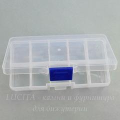 Пластиковый контейнер для хранения мелочей, прямоугольный 130х70х22 мм