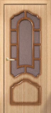 Дверь Румакс Соната ДО, стекло дельта-бронза, цвет дуб, остекленная