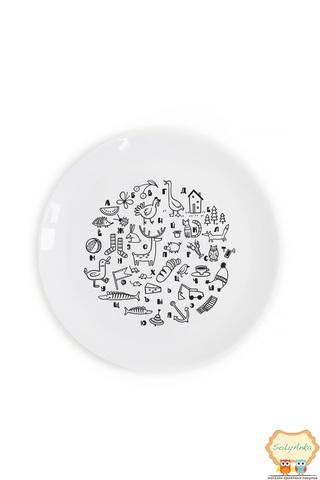 "Детская тарелка ""Алфавит"""