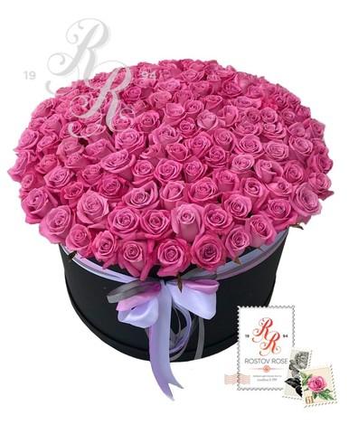 201 Розовая роза в коробке