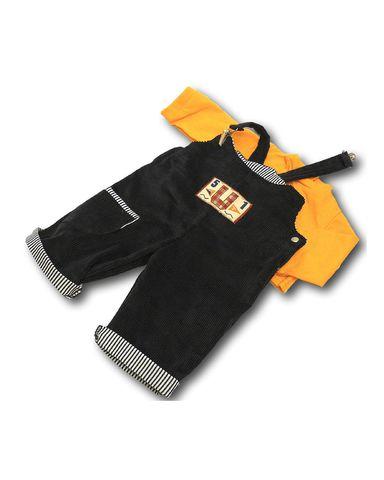 Полукомбинезон из вельвета - Оранжевый. Одежда для кукол, пупсов и мягких игрушек.