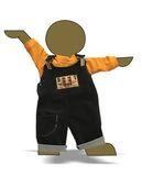Полукомбинезон из вельвета - Демонстрационный образец. Одежда для кукол, пупсов и мягких игрушек.