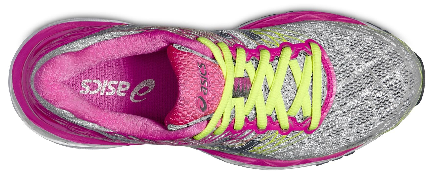 Женские беговые кроссовки Asics Gel-Nimbus 18 (T650N 9397) серые-розовые фото