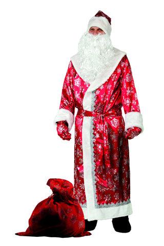Дед Мороз красный (сатин) Аренда 1 сутки