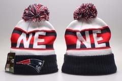 Шерстяная вязаная шапка футбольного клуба NE (NFL) с помпоном